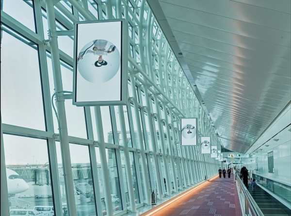 Mariko Mori installation at Narita and Haneda airports, Tokyo, Japan: Kojiki - Amenomanai (2019-2020)