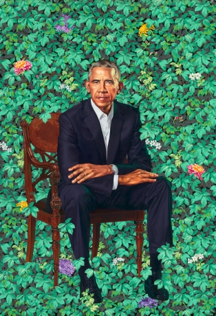 Kehinde Wiley in The Obama Portraits