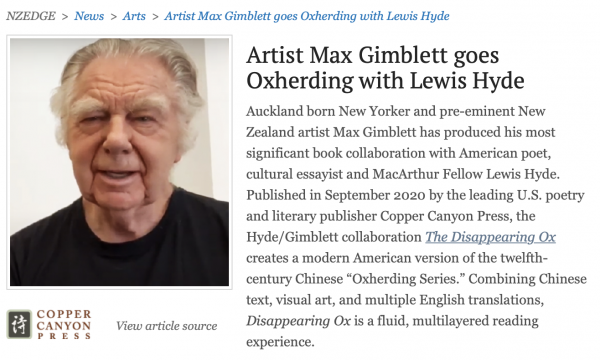 Artist Max Gimblett goes Oxherding with Lewis Hyde