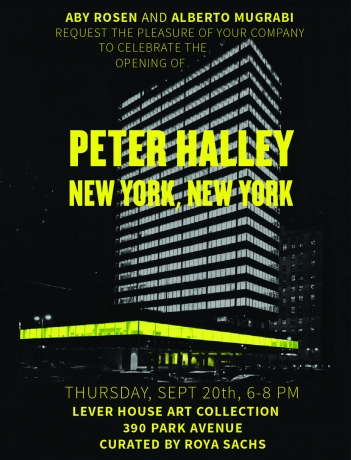 Peter Halley at Lever House Art Collection, NY
