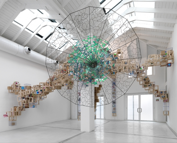 Jacob Hashimoto at Governors Island, New York City