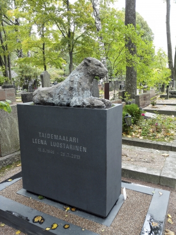 Leena Luostarinen's funerary monument is revealed
