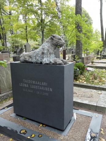 Leena Luostarinen's funerary monument is revealed