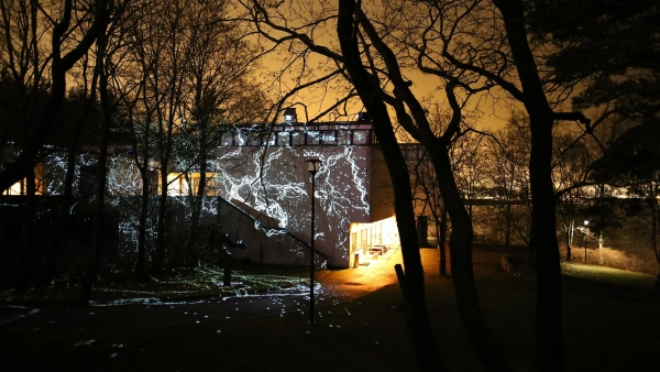 Charles Sandison's installation The Nature of Light illuminates the Sara Hildén Art Museum