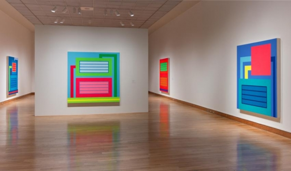 PETER HALLEY AT SANTA BARBARA MUSEUM OF ART