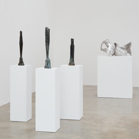 """Beverly Pepper's """"New Particles from the Sun"""" at Kayne Griffin Corcoran, Los Angeles"""