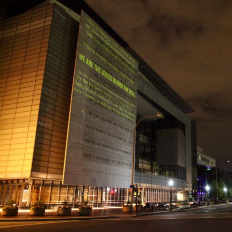 Hank Willis Thomas covers US Justice Department with thousands of words from inmates