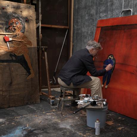 David Lynch's Art Peers Behind the Facade