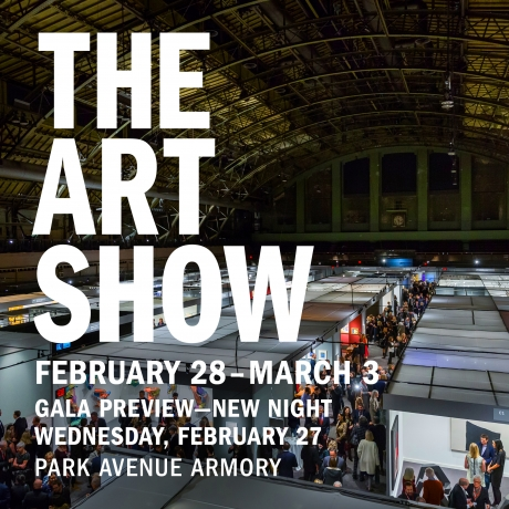 The Art Show logo with dates