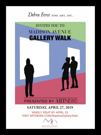 Madison Avenue Gallery Walk Logo with dates