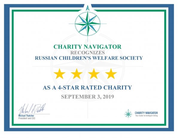 RCWS earns 4-star rating from Charity Navigator