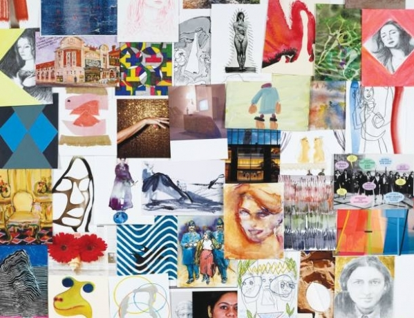 Jessica Stockholder included in Another World charity postcard sale