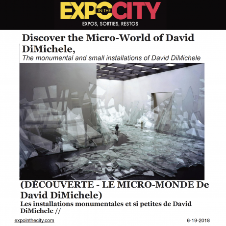 Discover the Micro-World of David DiMichele, The monumental and small installations of David DiMichele