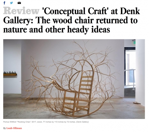 'Conceptual Craft' at DENK Gallery: The wood chair returned to nature and other heady ideas