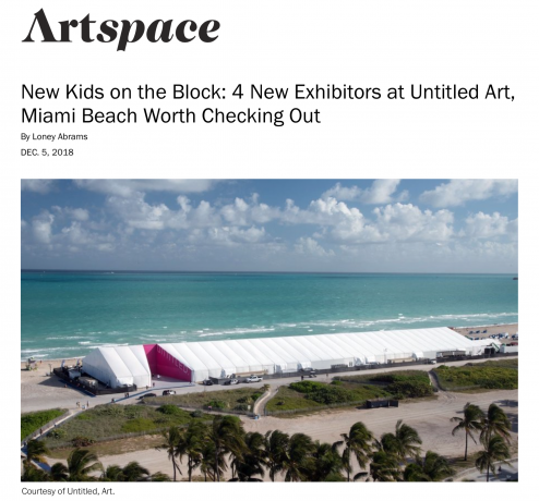 New Kids on the Block: 4 New Exhibitors at Untitled Art, Miami Beach Worth Checking Out