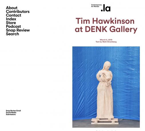 Tim Hawkinson  at DENK Gallery
