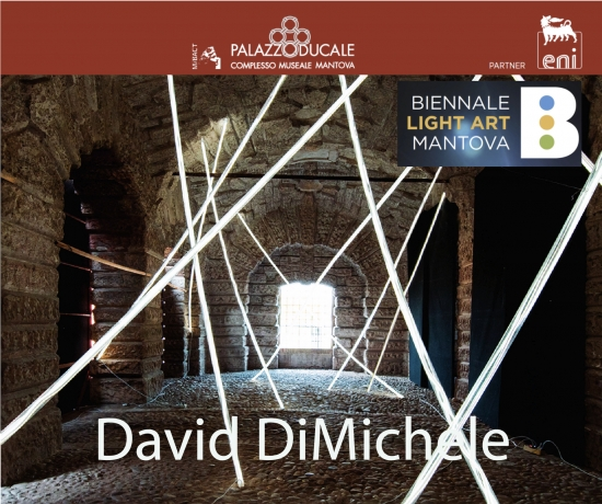 David DiMichele installation art work at Biennale Light Art, Mantova