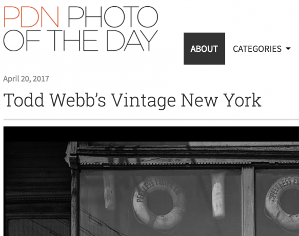 """Photo District News """"Photo of the Day"""""""