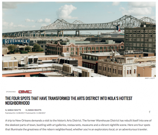 The Four Spots That Have Transformed the Arts District into NOLA's Hottest Neighborhood