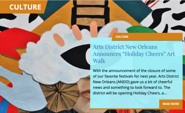 """Arts District New Orleans Announces """"Holiday Cheers"""" Art Walk"""