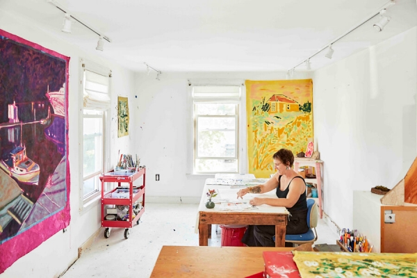 Collage as Lifestyle | By Debra Spark | Photos by Michael D. Wilson