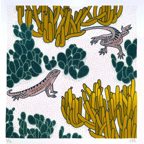 CLAUDIA  BORFIGA, Lizard Play for PATTERN RECOGNITION review in LUM Art Zine