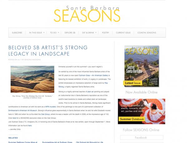 Beloved SB Artist's Strong Legacy in Landscape