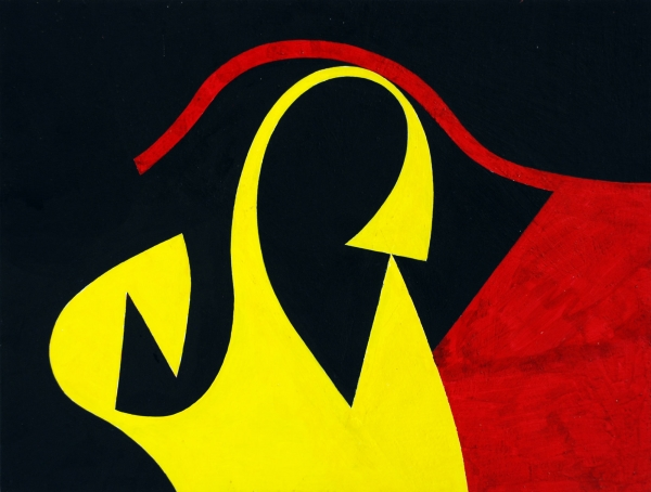 SIDNEY GORDIN (1918-1996), Film Painting, c. 1975 for LUMARTZINE review of DREWES | FISCHINGER | GORDIN: The Invention of American Abstract Art