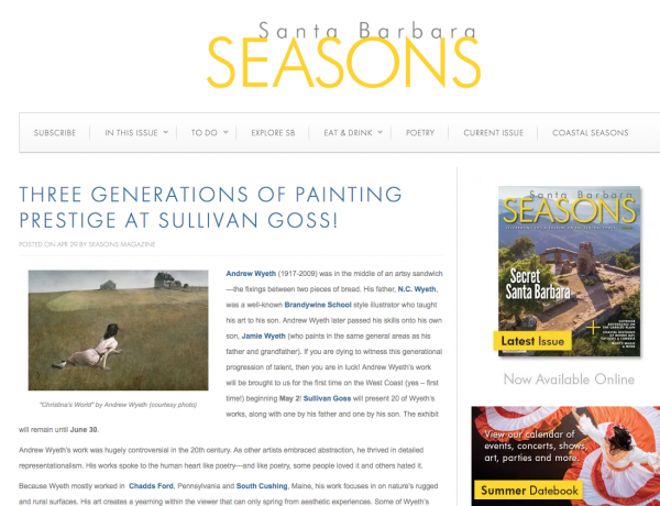 Three Generations of Painting Prestige at Sullivan Goss!