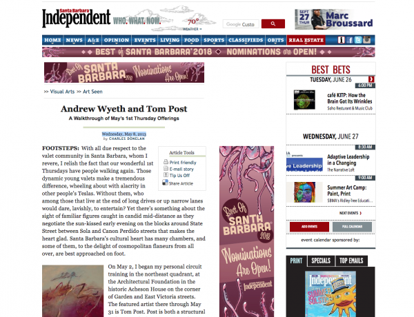 Andrew Wyeth and Tom Post