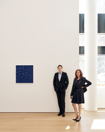David Maupin and Rachel Lehmann in the gallery's 24th Street space in New York