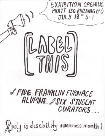 Linda Sibio in [Label This], a Pratt Institute Exhibition