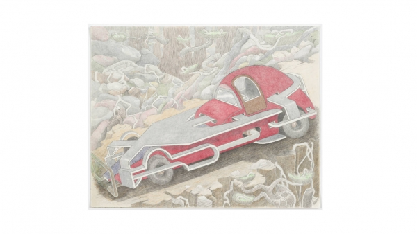"""Critic's Pick: """"William A. Hall: Car Drawings, 2008-2017"""""""