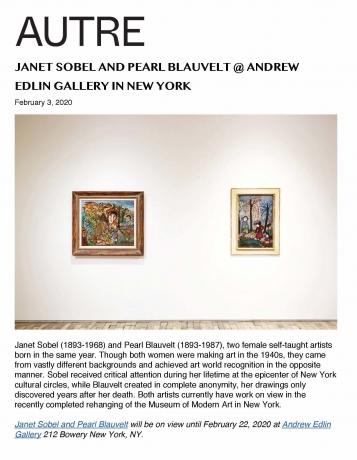 Janet Sobel and Pearl Blauvelt @ Andrew Edlin Gallery