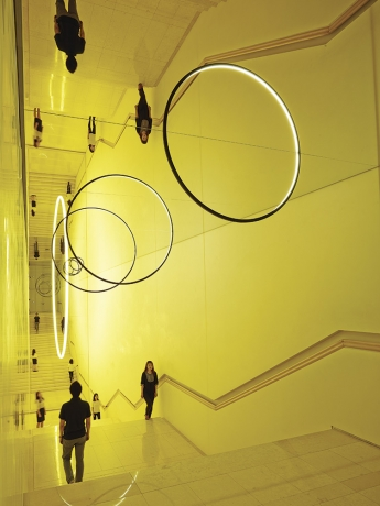 """Olafur Eliasson's """"Gravity Stairs,"""" a site-specific installation made for the 10th anniversary exhibition of Leeum"""