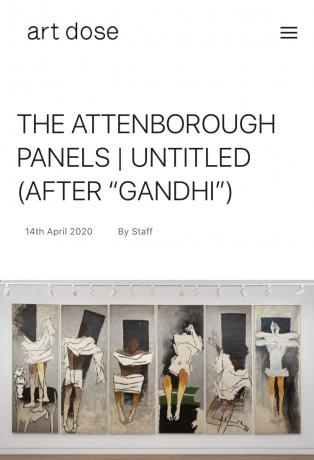 "The Attenborough Panels | Untitled (After ""Gandhi"")"