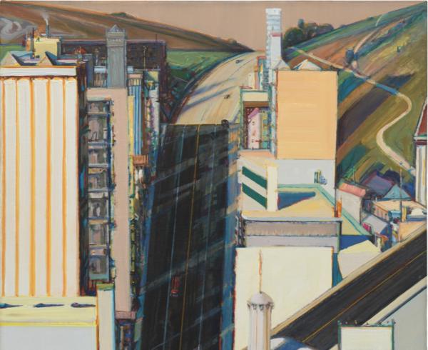 Wayne Thiebaud, Sunset Streets, 1985