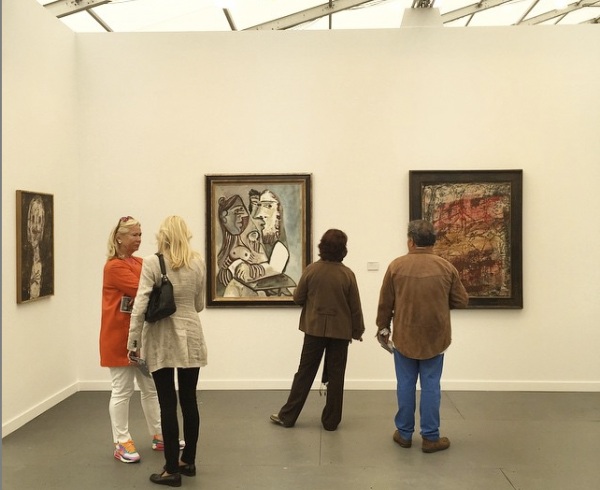 Frieze booth installation