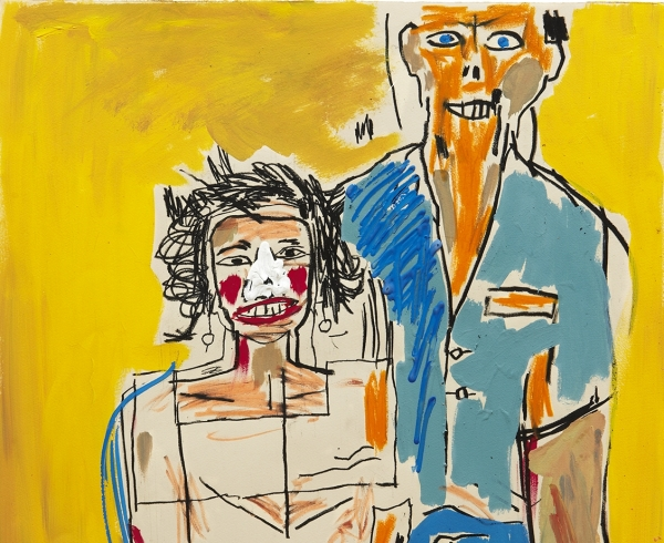 """Basquiat """"Portrait of Herb and Lenore,"""" 1983"""