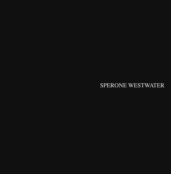 black book slipcase with text reading Sperone Westwater