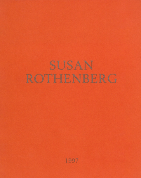 orange book cover with the artist's name and year in gray text