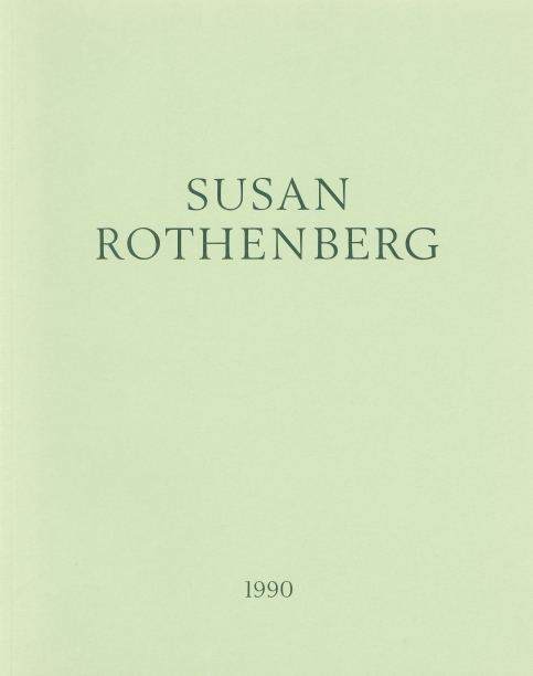 pale green book cover with the artist's name and year in dark green text