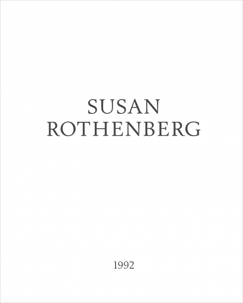white book cover with the artist's name and date in black text