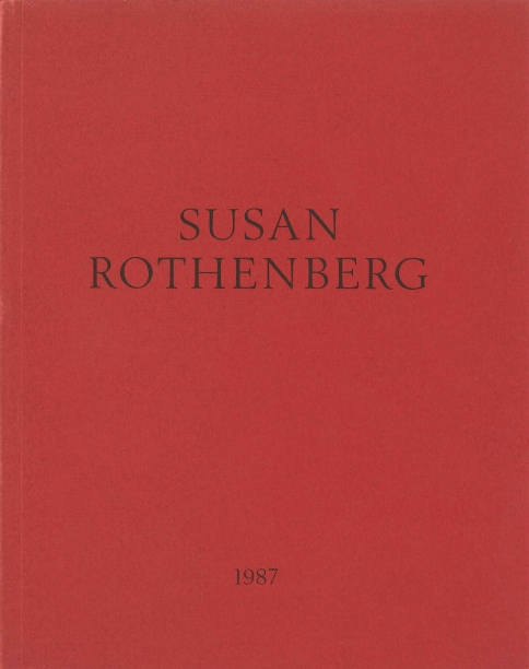 red book cover with the artist's name and the year in black text