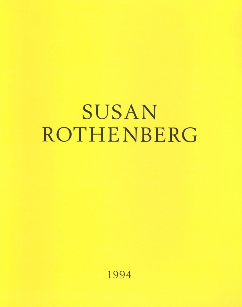 yellow book cover with the artist's name and year in black text