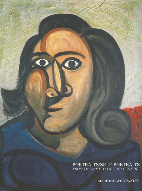 book cover illustrated with a Picasso portrait of a woman in a blue shirt with a slightly abstracted face