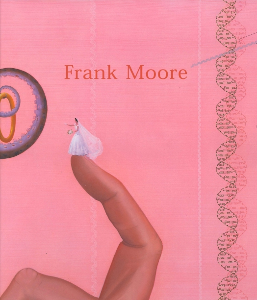 pink book cover with illustration of a tiny bride perched on the tip of a forefinger with a DNA helix to the side