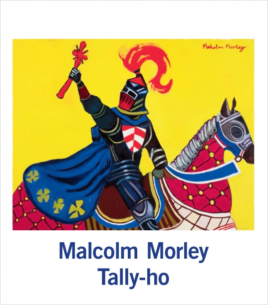 book cover illustrated with a painting of a knight on horseback in front of a bright yellow background