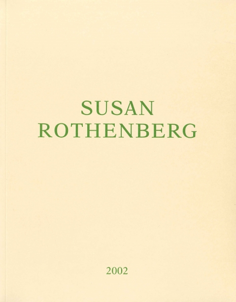 yellow book cover with the artist's name and date in green text