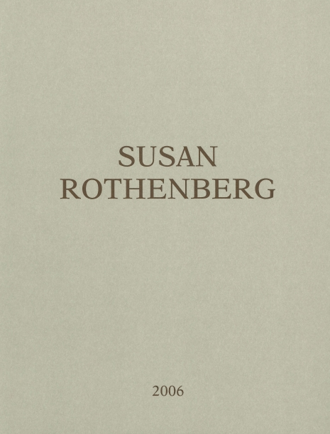 beige book cover with the artist's name and the date in brown text